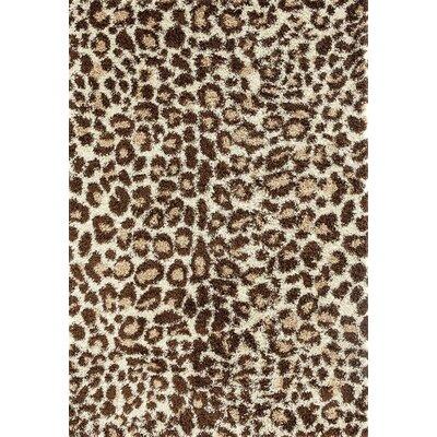 Bonhill Cream/Brown Indoor/Outdoor Area Rug Rug Size: 7 x 10