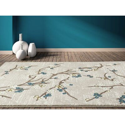 Tham Beige/Gold Indoor/Outdoor Area Rug Rug Size: 5 x 7