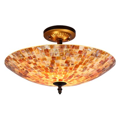 Leighton 2-Light Semi Flush Mount