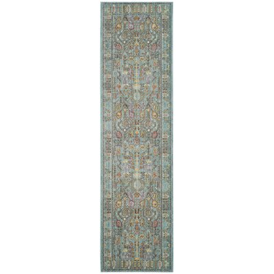 Privette Power Loom Stone Blue/Gray Area Rug Rug Size: Runner 23 x 10