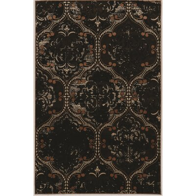 Adrien Hand-Loomed Brown Area Rug Rug Size: 8 x 10