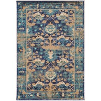 Shelie Mahal Blue Area Rug Rug Size: 2 x 3