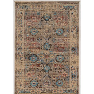 Shelie Mahal Beige Area Rug Rug Size: Rectangle 5 x 76