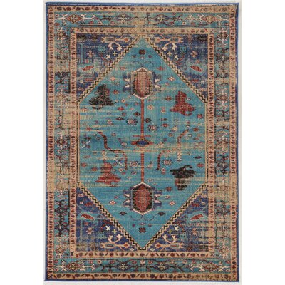 Shelie Heriz Blue Are Rug Rug Size: Rectangle 8 x 106