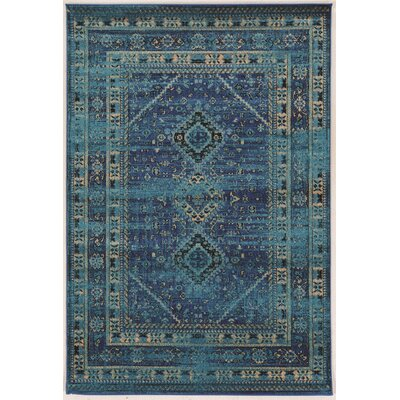 Shelie Goravan Blue Area Rug Rug Size: Rectangle 5 x 76