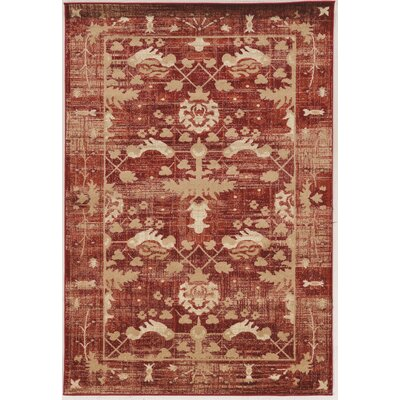 Shelie Hamadan Red Area Rug Rug Size: Rectangle 5 x 76