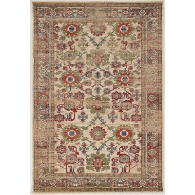 Shelie Mahal Ivory Area Rug Rug Size: Rectangle 5 x 76
