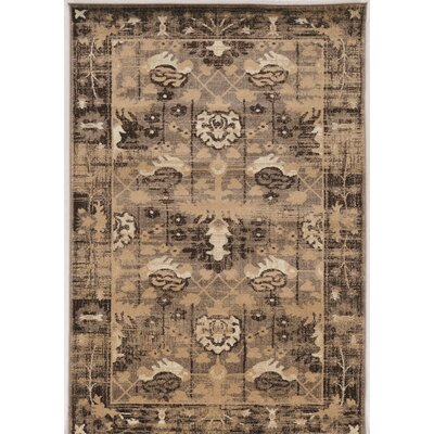 Shelie Hamadan Beige Area Rug Rug Size: Rectangle 5 x 76