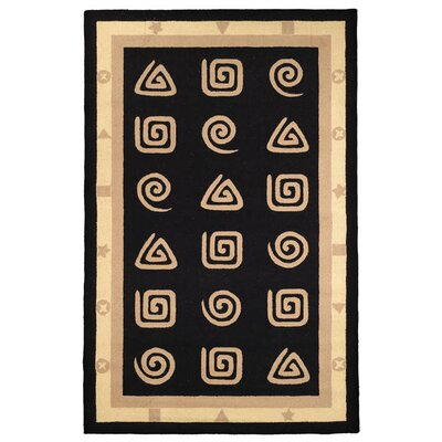 Bridges Black Geo Area Rug Rug Size: 53 x 83
