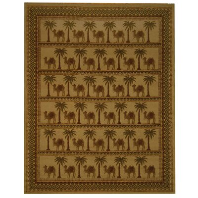 Bridges Oasis Novelty Area Rug Rug Size: 53 x 83