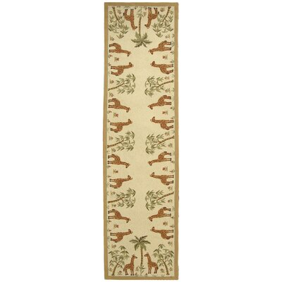 Bridges Giraffes Novelty Rug Rug Size: Runner 26 x 12