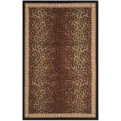 Bridges Black&Brown Area Rug Rug Size: 79 x 99
