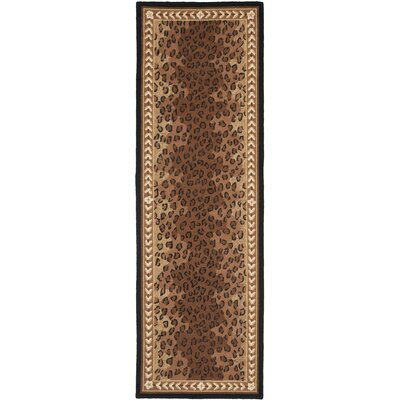 Bridges Black&Brown Area Rug Rug Size: Runner 26 x 18