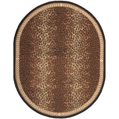 Bridges Black&Brown Area Rug Rug Size: Oval 76 x 96