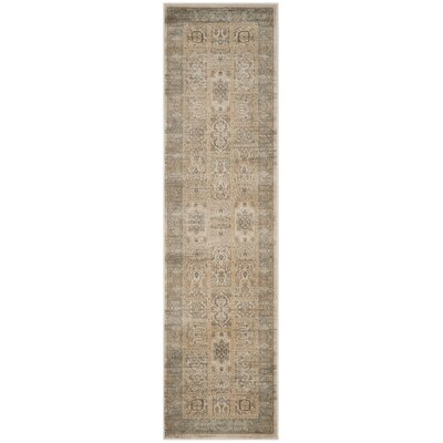 Branch Ivory/Light Blue Area Rug Rug Size: Runner 22 x 8