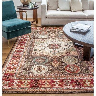 Borderlands Curran Red/Brown Oriental Rug Rug Size: 53 x 76