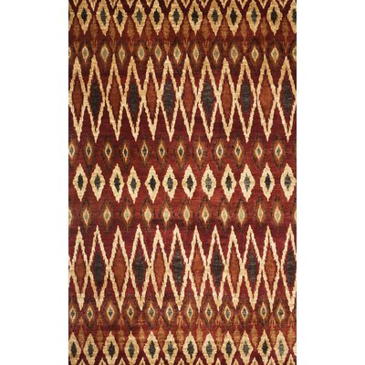 Borderlands Rust/Red Area Rug Rug Size: 53 x 76