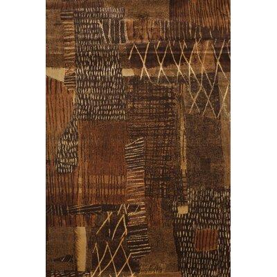Borderlands Rust/Brown/Golds Area Rug Rug Size: 53 x 76