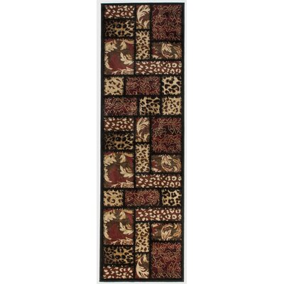Emeril Leopard Animal Print Black Area Rug Rug Size: Runner 23 x 73