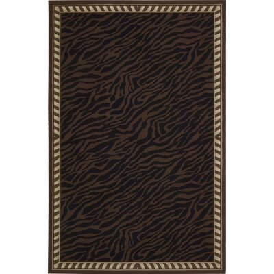 Skandar Hand-Hooked Wool Brown Indoor Area Rug Rug Size: Rectangle 86 x 116