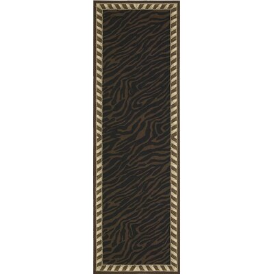Skandar Hand-Hooked Wool Brown Indoor Area Rug Rug Size: Runner 26 x 8