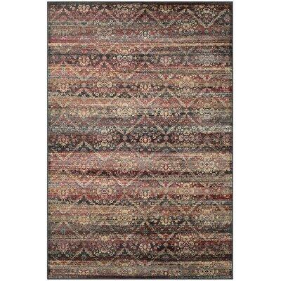 Saramarie Red/Black Area Rug Rug Size: Runner 28 x 710