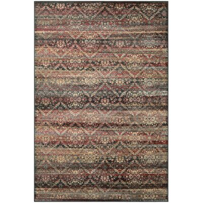 Saramarie Red/Black Area Rug Rug Size: 31 x 53
