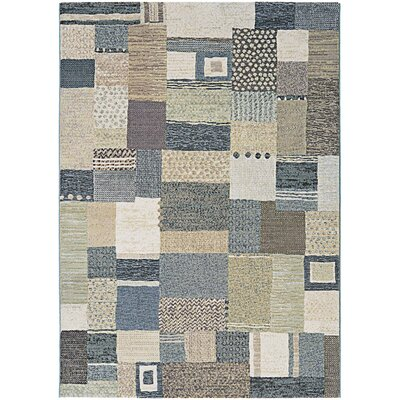Gene Gray/Green Area Rug Rug Size: Rectangle 92 x 125
