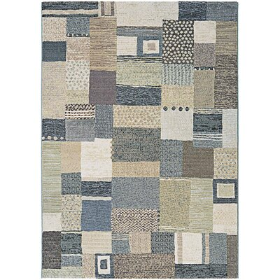 Gene Gray/Green Area Rug Rug Size: 53 x 76