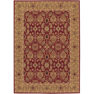 Whitehill Red/Beige Area Rug Rug Size: Runner 22 x 811