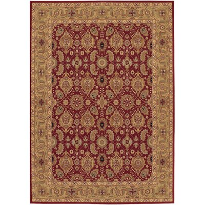 Whitehill Red/Beige Area Rug Rug Size: Oval 311 x 66