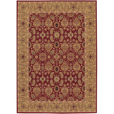 Whitehill Red/Beige Area Rug Rug Size: 53 x 76