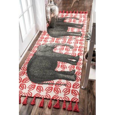 Cummings Black/Red Area Rug Rug Size: 6 x 9