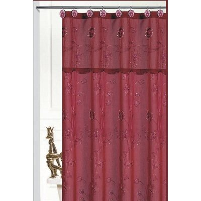 Bothwell Shower Curtain Color: Burgundy