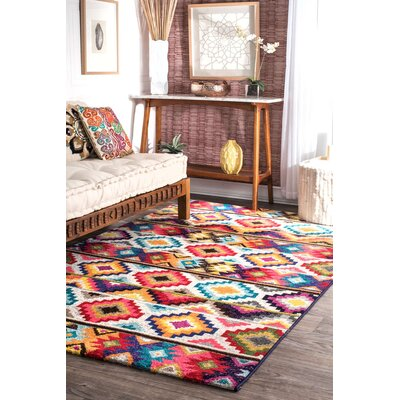 Vincent Retro Indoor Area Rug Rug Size: 5 x 8