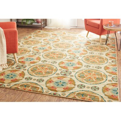 Taren Spice Suzani Tan/Brown Area Rug Rug Size: Rectangle 76 x 10