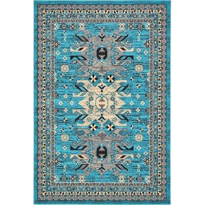 Sina Turquoise Area Rug Rug Size: 8 x 10
