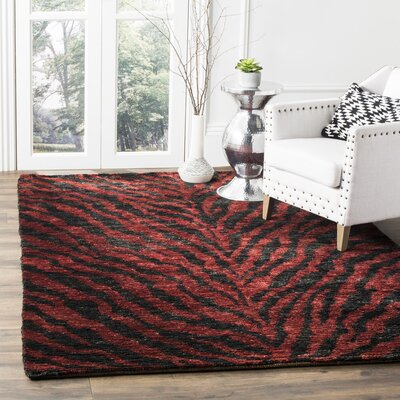 Parisi Red/Black Area Rug Rug Size: Rectangle 9 x 12