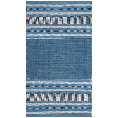 Bokara Hills Hand-Woven Blue/Gray Area Rug Rug Size: 3 x 5