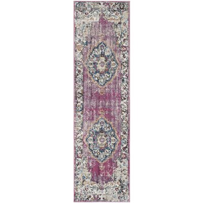 Culross Rose/Purple Area Rug Rug Size: Runner 23 x 8