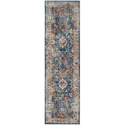 Amiens Blue/Light Gray Area Rug Rug Size: Runner 23 x 8