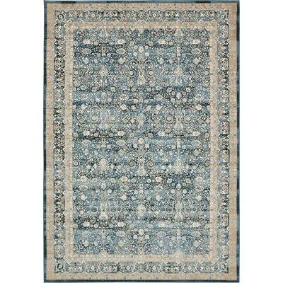 Miara Dark Blue Area Rug Rug Size: Rectangle 8 x 112