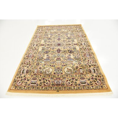 Altadena Gold Area Rug Rug Size: Rectangle 5 x 77