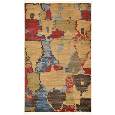 Jan Light Brown Area Rug Rug Size: Rectangle 33 x 53
