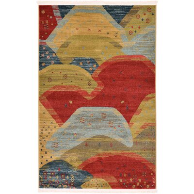 Jan Abstract Area Rug Rug Size: 33 x 53