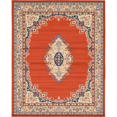 Astral Terracotta Area Rug Rug Size: 8 x 10