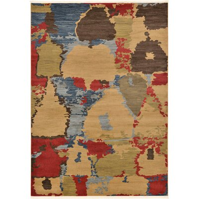 Jan Light Brown Area Rug Rug Size: 7 x 10