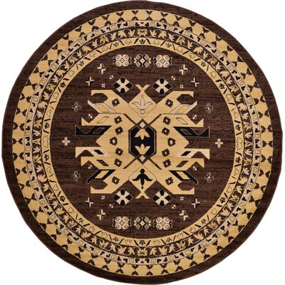 Valley Brown Area Rug Rug Size: Round 8'
