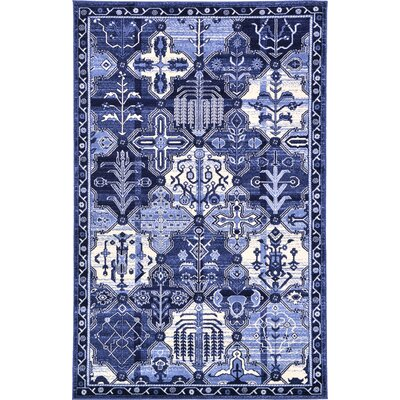 Irma Blue Area Rug Rug Size: Rectangle 5 x 8