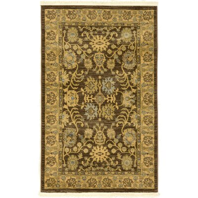 Fonciere Brown Area Rug Rug Size: 33 x 53